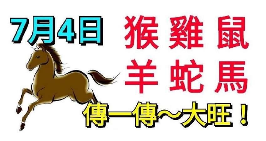 7月4日生肖運勢_猴、雞、鼠大旺