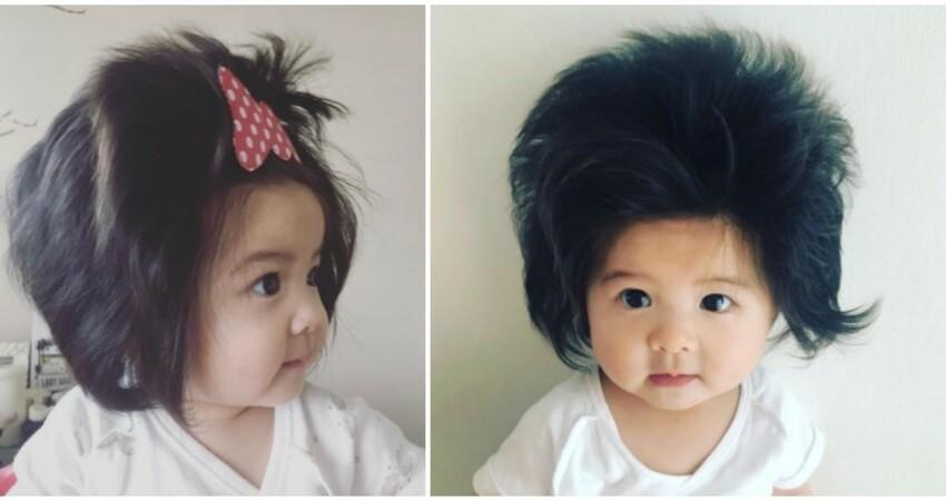 最萌代言人!1歲萌娃「頭髮多到炸出來」爆紅 被潘婷簽下當「史上最年輕美髮大使」紅到全世界