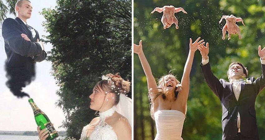 俄羅斯人的幽默好難懂… 30張「非主流過頭」的結婚照