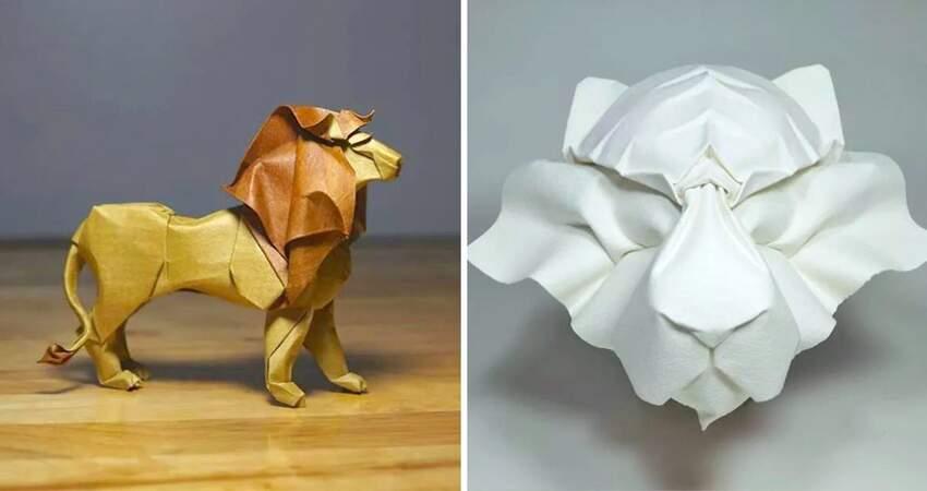 「把紙弄濕」反而更能摺出意境 摺紙大師還原小動物:每一隻都栩栩如生