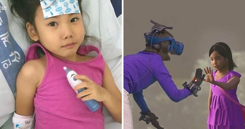 7歲女兒去了天堂… 媽媽透過VR虛擬實境「再次見面」:我好想抱抱你