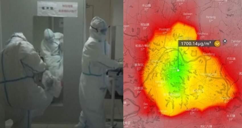武漢二氧化硫濃度破表推測疫是因為大量焚燒XX所造成,甚至進一步推算,要產生如此高濃度的二氧化硫,恐怕要焚燒上看不可思議數字。
