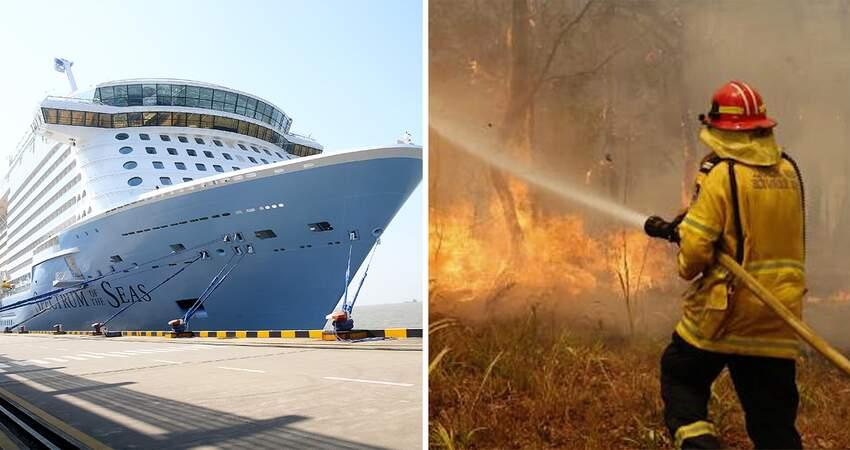 辛苦了!世界最巨郵輪「提供免費行程」 招待澳洲野火消防員:英雄應得的