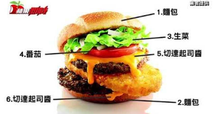 漢堡加入薯餅 麥當勞推史上最大份量10層堡 | 台灣蘋果日報