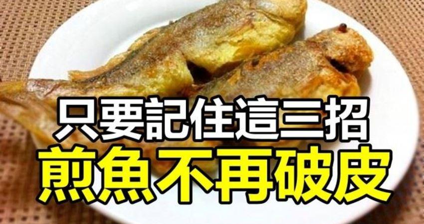 如何煎魚才不破皮?只要記住這3招就不會破啦。而且煎魚香又脆皮特別好吃!