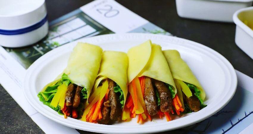 教你做懶人版黑椒牛肉卷餅,不發麵,不燙麵,柔軟勁道又好吃
