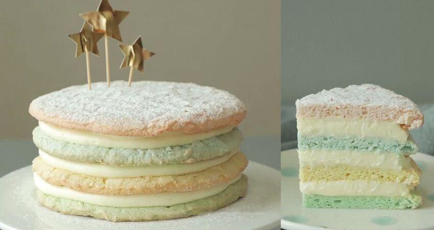 好特別的夾心奶油霜蛋糕,別看簡單,99%的私房主都沒做過