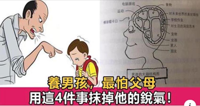美國兒童心理學家:養育男孩,最怕父母用4件事抹掉他的銳氣