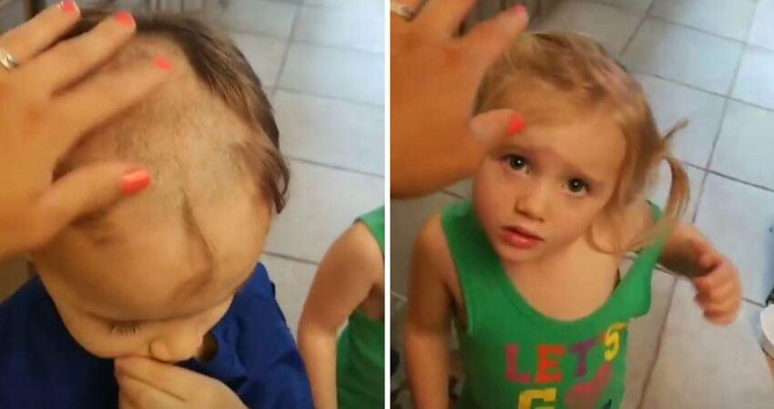 小男孩拿電動剪髮器幫自己和弟妹理髮 媽媽看到「半完成品」QQ了