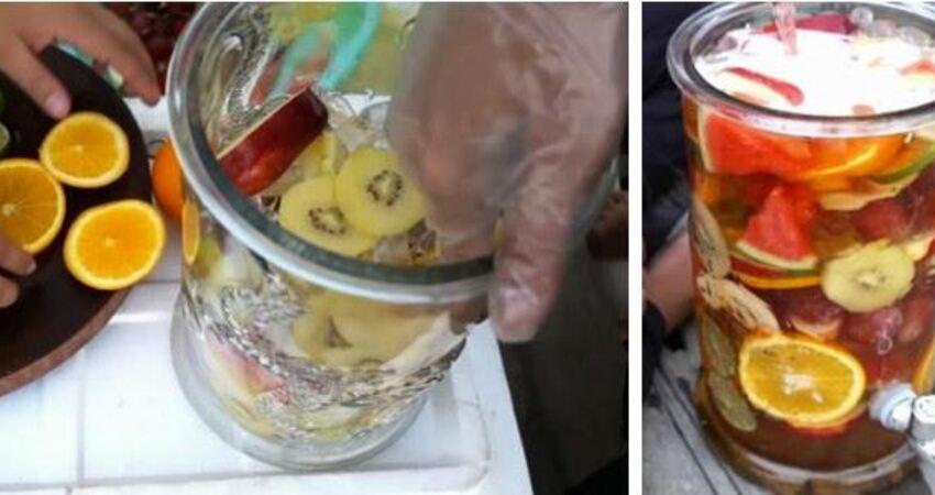 男子買20斤水果,放罐子裡,倒上雪碧,30分鐘後讓人口水直流