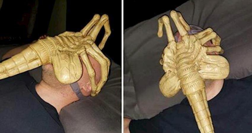 男子每晚必戴「驚悚異形面罩」入睡 翻面才了解:這東西能救他命