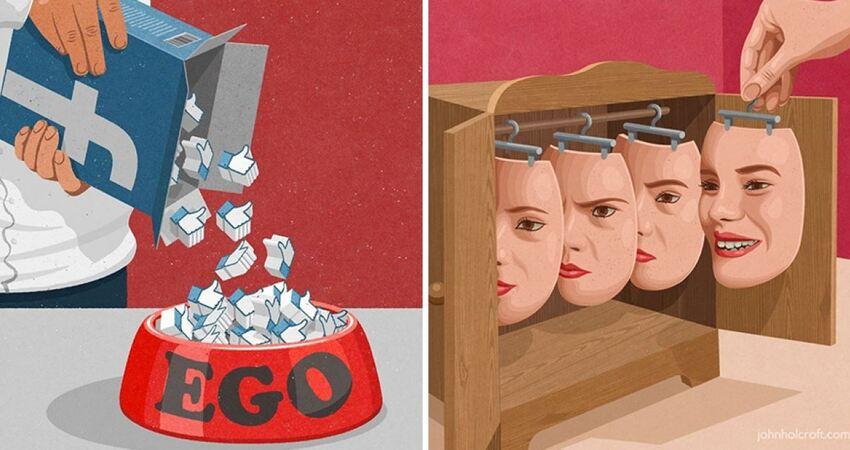 就發生在身邊的人生百態! 26張「喚醒大家反思能力」的諷刺插畫