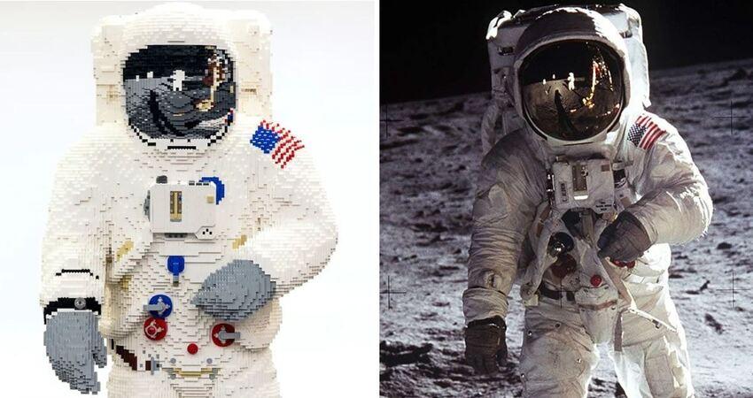 登月50週年!樂高僅此一尊「等身太空人」登場 一塊塊堆起來太療癒