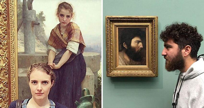 我怎麼在畫裡? 21張「去博物館遇到前世自己」的搞笑合照