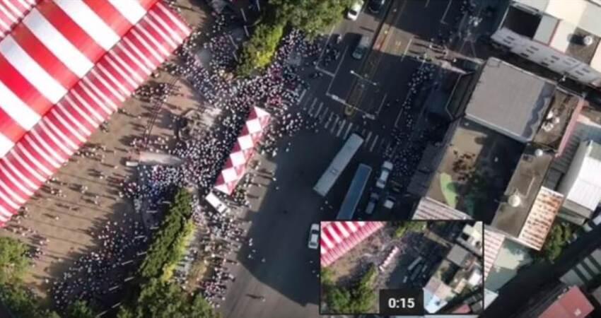 韓蔡南投造勢空拍 網:沒有比較就沒有傷害