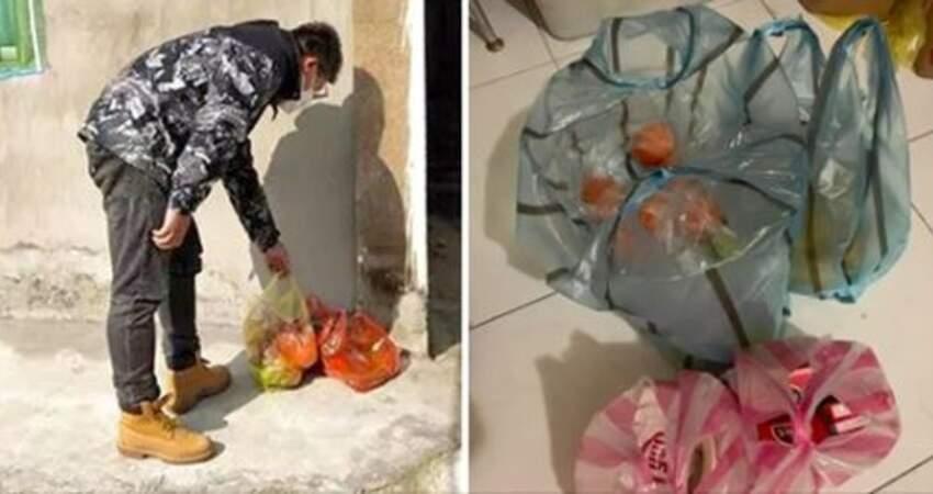 自行隔離「暖心鄰居幫送餐」 水果、飲料放門口她感動:謝謝幫我撐過7天