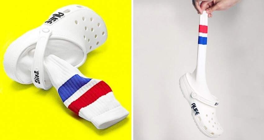 再創新!Corcs大膽推「襪筒布希鞋」 網友看不懂:這是哪個世界的時尚?