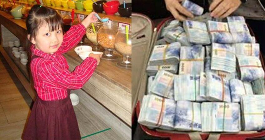 9歲女孩吃自助總是將食物裝進書包帶走,老闆懷疑跟蹤後,偷偷準備了20萬藏進書包!