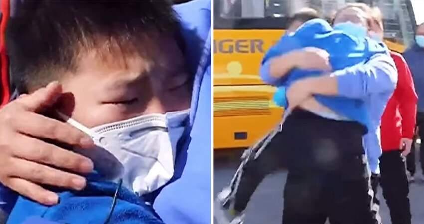 護士媽隔離29天終於回家 兒子見面「秒撲懷裡」嚎哭:我媽媽回來了!