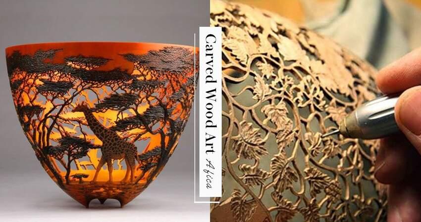 用容器完成一幅畫 非洲藝術家手彫「鏤空的世界」完全呈現草原美景