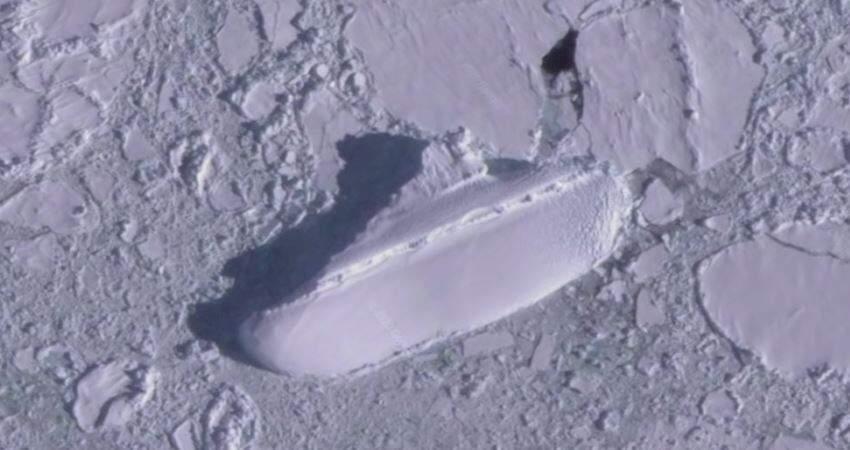 古代文明遺跡? GoogleEarth上發現「神秘南極冰船」 謎團重重引網友猜測:應該是「方舟」吧