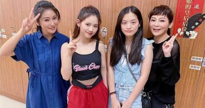 王彩樺兩個女兒進棚探班《黃金歲月》導演邀約演出