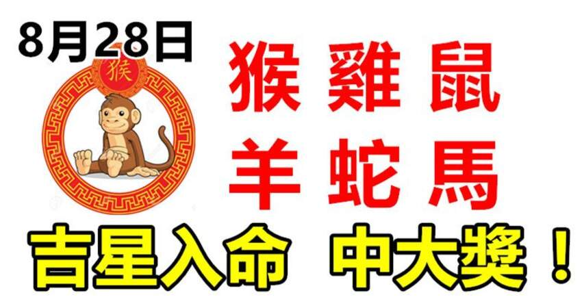 8月28日生肖運勢_猴、雞、鼠大吉