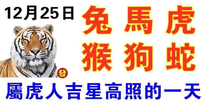 12月25日生肖運勢_兔、馬、虎大吉