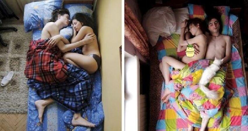攝影師拍下懷孕的情侶睡著時的「睡姿」,發現「男生睡著的動作」竟有「不可告人的事實」!