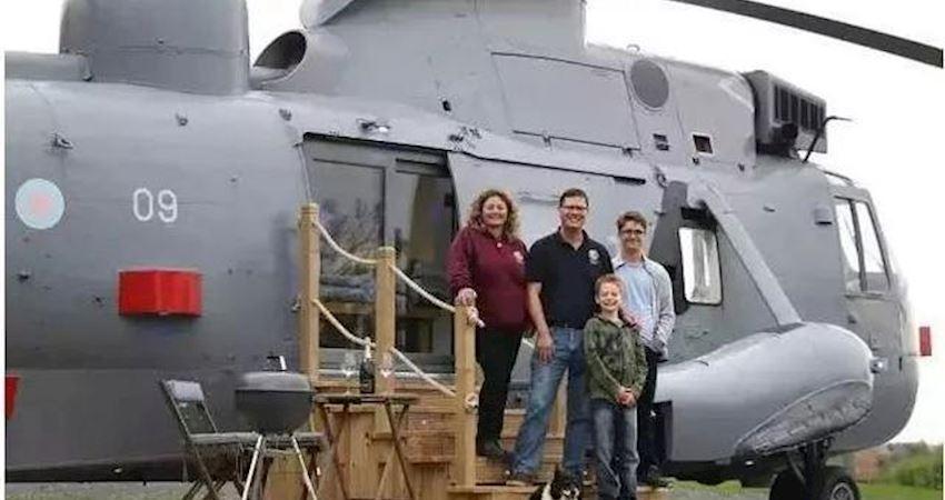 花了33萬,他們把家搬進了直升機……