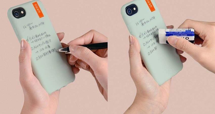 健忘人快看!手機殼變身「可擦寫筆記本」 隨寫隨擦靈感不怕漏記!