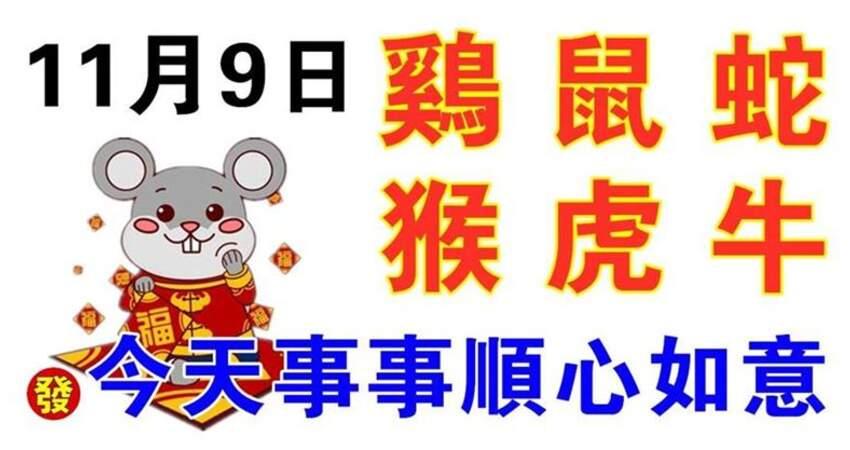 11月9日生肖運勢_雞、鼠、蛇大吉