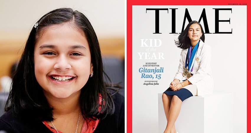 首位「年度風雲兒童」! 15歲印度裔「少女科學家」登《時代》封面:靠智慧獲選!