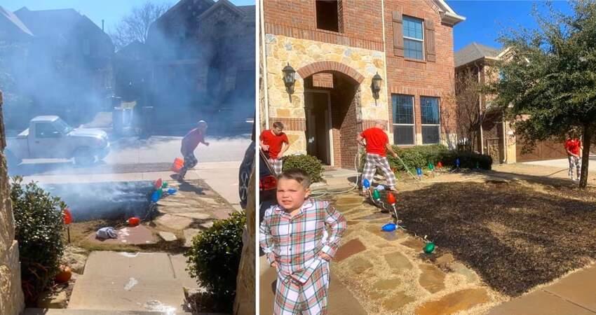 聖誕禮物收到放大鏡! 12歲童「嗨做實驗」點燃院子一片火海