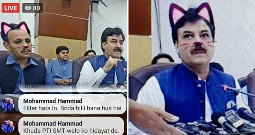 政府在記者會開直播「忘記關貓咪濾鏡」 萌樣逗笑網友:無法認真看他們