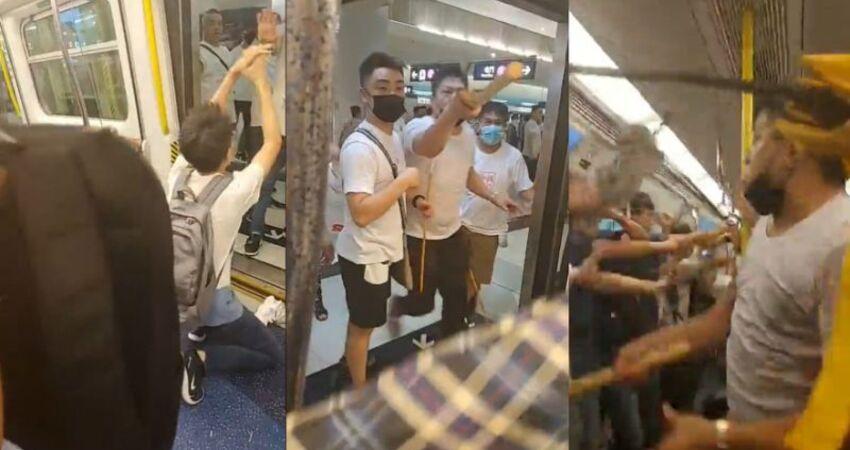 香港元朗暴徒襲擊市民 警方判斷不同政見導致