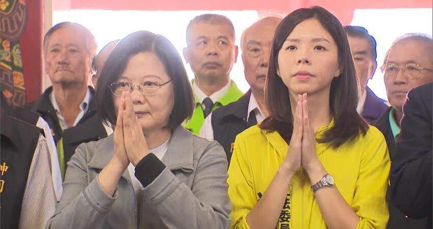 不演了?蔡英文赴台中幫洪慈庸輔選 網友痛批:民進黨國會過半?