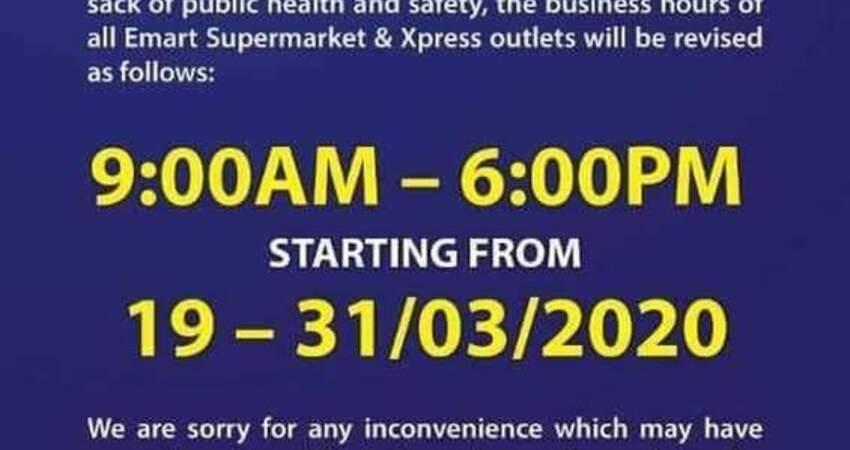 行管令期間.紛紛將每日超市提早打烊。