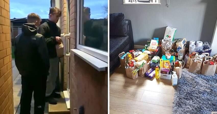 搶不到物資…老人逛超市「只拿一袋麵粉回家」 2青少年把驚喜送上門