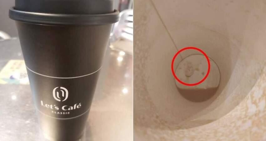 [高雄]噁爛至極!女子坐在超商等朋友,離開位子去接電話卻不料剛買的咖啡被丟進一塊嚼過的口香糖喝完時發現當場傻眼反胃氣得直接報警...