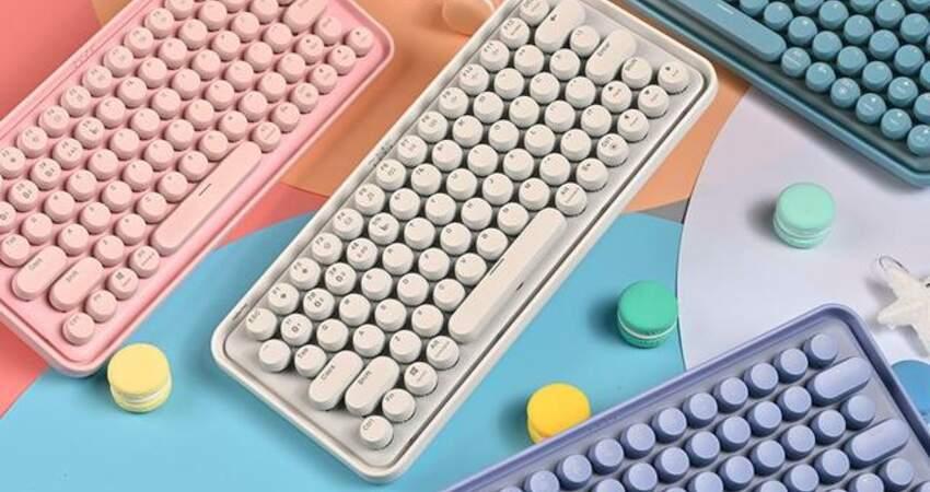 顏值在線+功能全面,ralemoPre5多模無線機械鍵盤有點甜