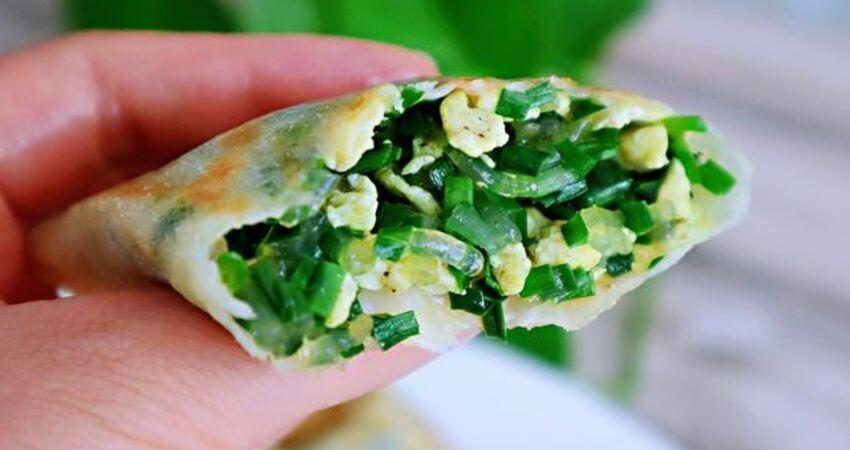 韭菜盒子新做法,不和面、不搟皮,出鍋後外焦裡嫩、餡料十足