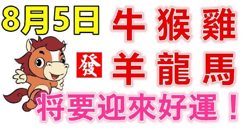 8月5日生肖運勢_牛、猴、雞大吉
