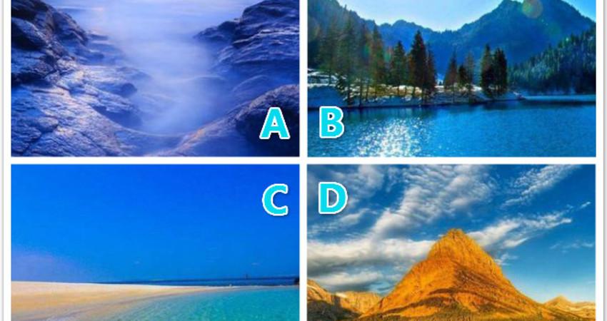 心理學:四種風景,你更喜歡哪種?測你會愛上什麼樣的男人