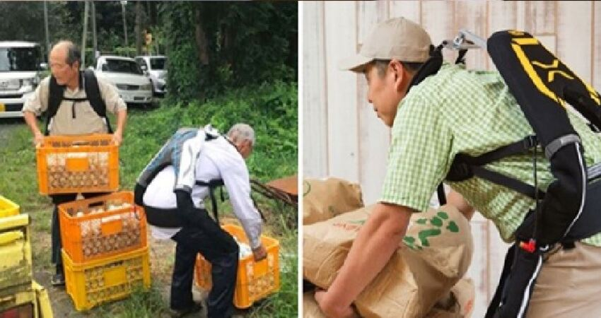 一穿上就能不費力「舉起25kg重物」 日本研發「外骨骼裝甲」老年人也能輕鬆勞動