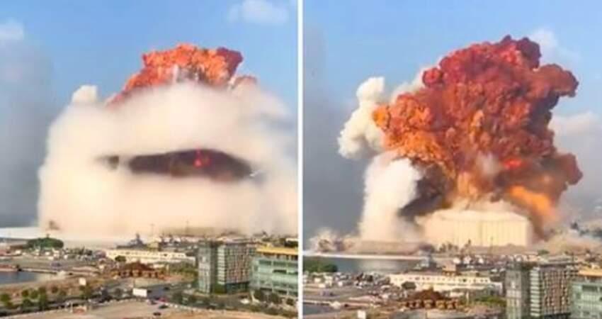 高空噴蕈狀雲!黎巴嫩首都傳「超密集爆炸聲」 釀73死3000傷城市成廢墟