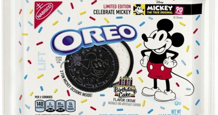 Oreo推限定「生日蛋糕」口味餅乾慶祝米奇老鼠90歲生日