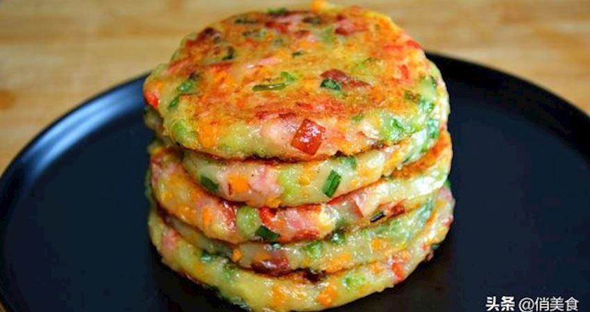 用土豆做的早餐餅太香了,不用麵粉,不用水,營養好吃,真香