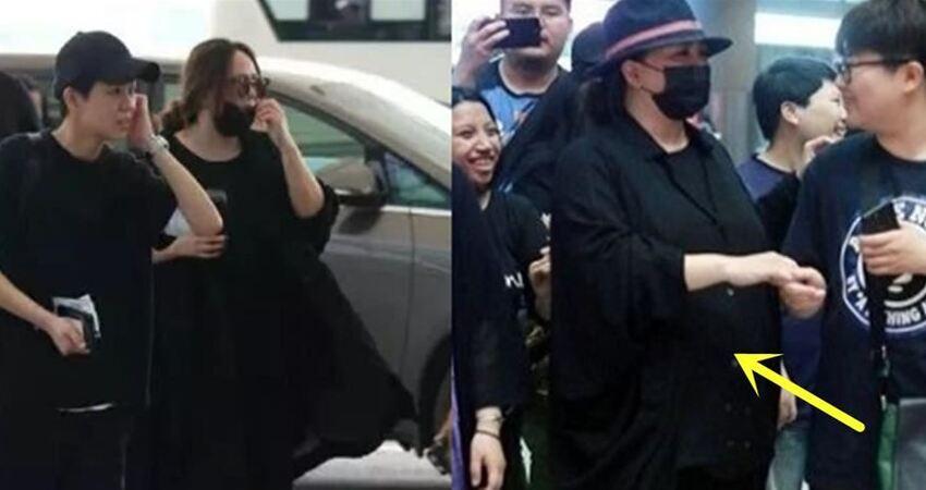 張惠妹近照曝光,穿著很寬大的衣服也難掩大肚子,很多歌迷看到都忍不住落淚!