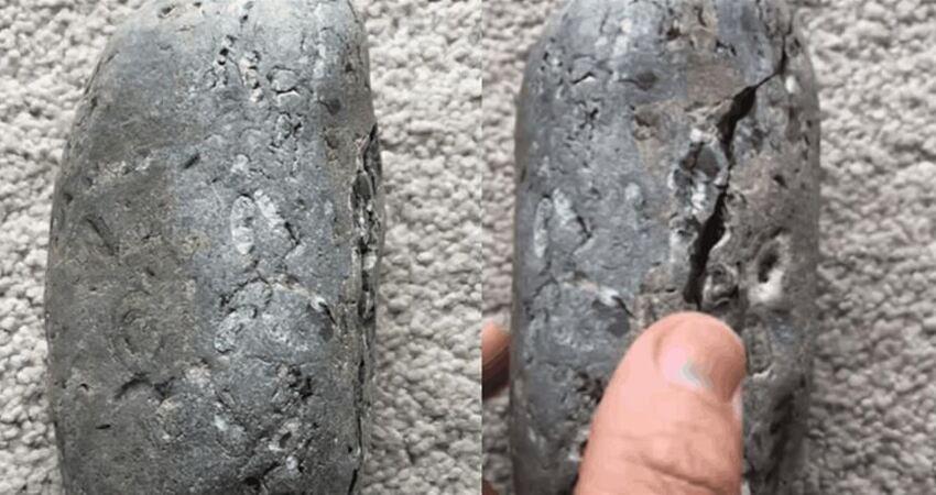 男子10歲撿到一顆怪石,35年後石頭出現裂痕,掰開後男子大驚:是寶藏!